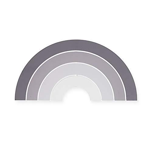 Jollein 005-005-65290 Holz Wandleuchte LED Lampe Regenbogen grau 25x40 cm