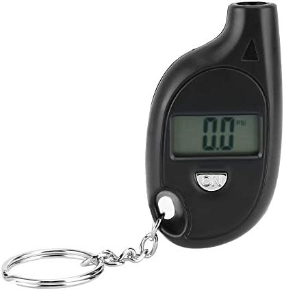 ABS Tyre Pressure Gauge Tester 5 150PSI Black With Keychain Tire Pressure Gauge for Car Automobile product image