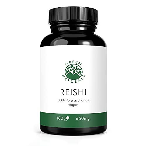 Reishi Extrakt (180 Kapseln á 650mg) - deutsche Herstellung - 100% Vegan & Ohne Zusätze - Vorrat für 3 Monate