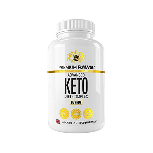 Keto Diet Complex (60 Vegan) Keto Diet Pills with MCT Oil, Green Tea Extract, Caffeine & Minerals. The Perfect Fast Burn Keto Advanced Complex for Weight Loss. One Month Supply