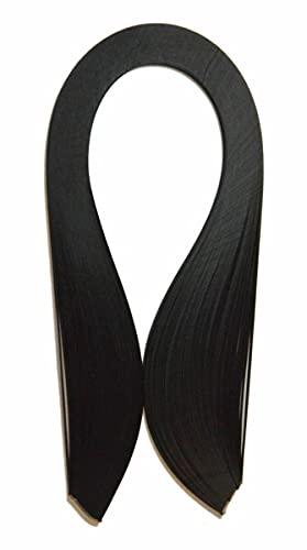 ODETOJOY Quilling Papierstreifen 10mm schwarz quilling streifen grün quilling papier weiß rot 120 Stück/eingestellte Länge 52cm (Schwarz)