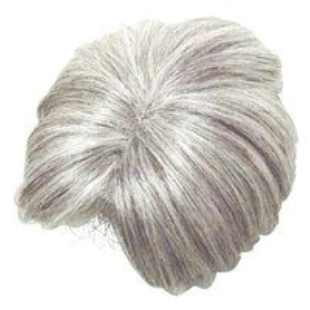 想像力豊かな振るうピービッシュモアヘアピース部分かつら (白髪80パーセント)