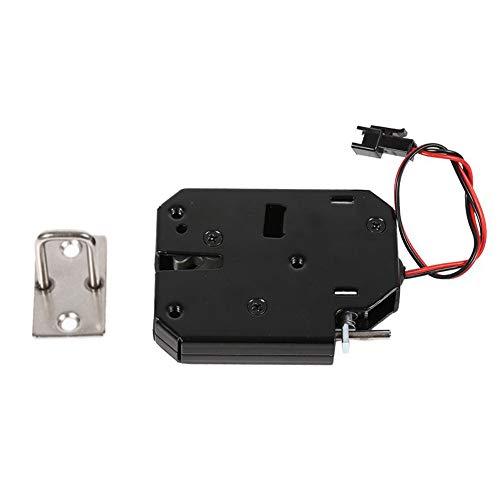Yevenr - Cerradura eléctrica de 12 V CC, cierre de control eléctrico, cerradura de armario electromagnética compacta para cajón, cerrojo eléctrico para armario, color negro