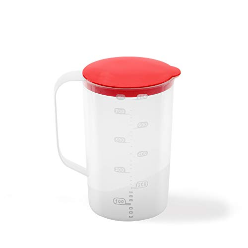 USE Family, Chef- Vaso medidor plástico | 3 EN 1 | Apto microondas | Recipiente Mezclador Repostería para Batidora