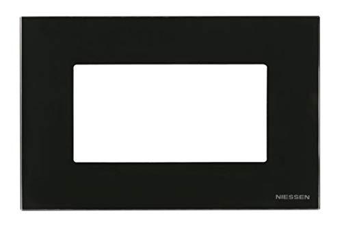 Niessen zenit - Marco 4 módulo caja americana serie zenit cristal negro