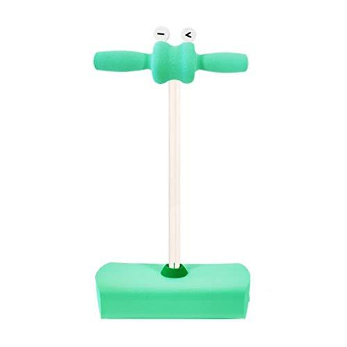 WENJIA Pogo Stick Pogos Saltarines Bungee Jumper Childrens Fun Safe Soft Pogo Stick,manijas Cómodas Duradero Y Antideslizante,para Niños De +3 Años (Color : Green)