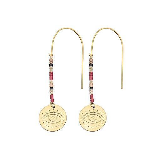 Tizian Stahl Türkisch böse Augentropfen Ohrringe Gold Farbe Einfach baumeln Ohrringe für Frauen Mädchen Modeschmuck
