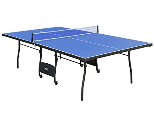 hj Mesa de Ping Pong Plegable 274*152.5*76CM con Ruedas de Bloqueo y Red, Ideal para Jugar...