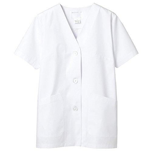 (モンブラン) Montblanc コックコート 半袖 衿なし 女性用 抗菌防臭加工 (O157対応) 1-012 L