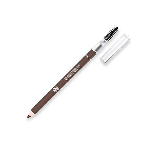 Yves Rocher COULEURS NATURE Augenbrauenstift - Cendré, für schöne, natürliche Augenbrauen, vegan, 1 x 1 g Stift mit Bürstchen