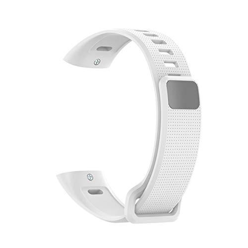 AmiAbi Pulseira de silicone para pulseira de silicone para Huawei Band 2 Pro B19 B29 Pulseira de TPU para pulseiras de relógio Honor Band2 / Band2 Pro, (cinza), 1. Este produto é compatível com Huaw