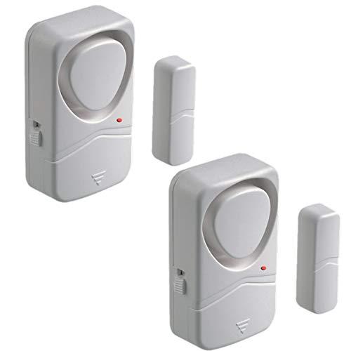 Wireless Door alarm for Home, Updated Magnetic Security burglar Sensor, Window Alarm, 110dB, Pool Door Alarm for Kids (2 pack)