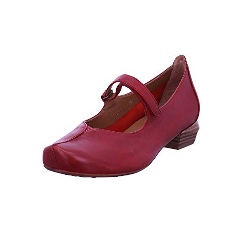 Everybody Damen Glicine Rote Glattleder Ballerina Größe 39 EU Rot (Sangria)