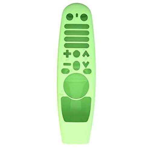 FeelMeet Silicona Caso Remoto Compatible con Mando a Distancia AN-MR600 MR19BA Verde Multi usos Glow LG Smart TV