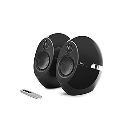Edifier E25HD Luna Eclipse Bluetooth 4.0 Bookshelf Speakers with Remote Control - Black from Edifier