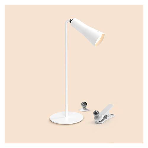 Lámpara Escritorio LED Lámpara de escritorio de control táctil Lámpara de escritorio LED con 3 niveles de atenuación Multi Function Cargador Enchufe en la lámpara de mesa de doble propósito, 4000K Luz