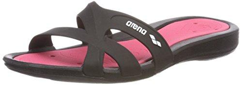 Arena Athena Woman Hook, Zapatos de Playa y Piscina para Mujer, Multicolor (Black/Fuchsia 509), 40 EU
