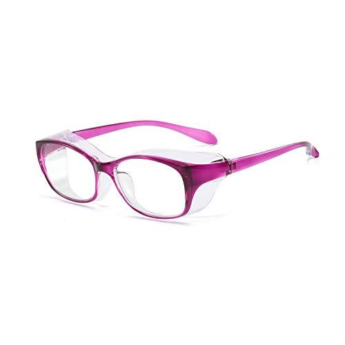 KoKoBin Gafas de protección antivaho y anti saliva, ultra violeta, HD, para hombres y mujeres, color lila