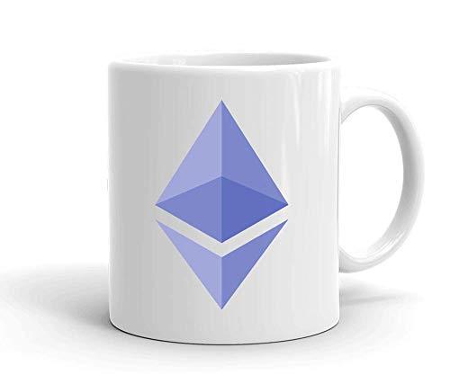 IDcommerce ETH Purple Logo Tasse en Céramique Blanche pour Le Thé Et Le Café
