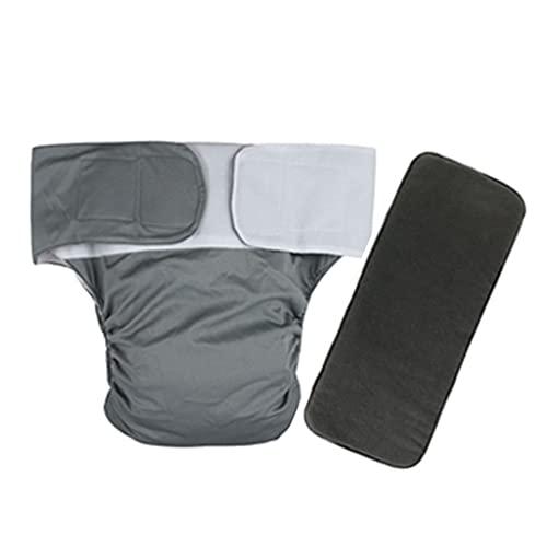 Pañal Adulto para Mujer/Hombre Bragas para el Cuidado de La Incontinencia Lavable Elástico Ajustable Reutilizable Respirable Prueba de Fugas (Color : Style2, Size : One Size)