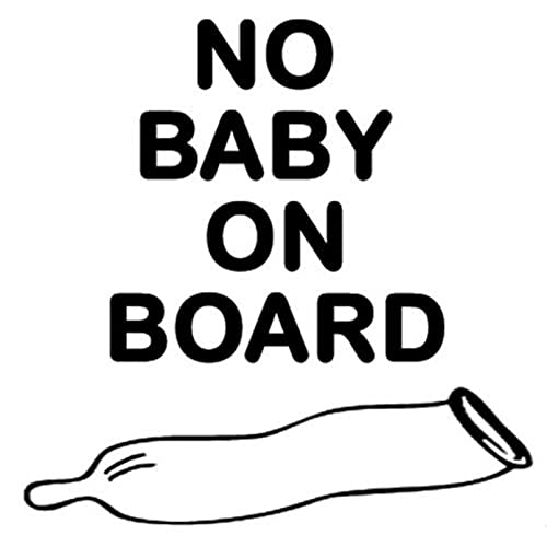 SCSHY Engomada del Coche 12,7 Cm * 12,7 Cm Ningún Bebé A Bordo Usado Condón Divertido Coche Pegatinas Accesorios