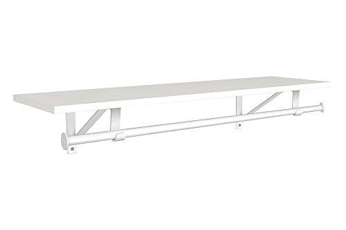 ClosetMaid 3305040 Wood Shelf with Hang Rod, 4-Foot X 12-Inch, White