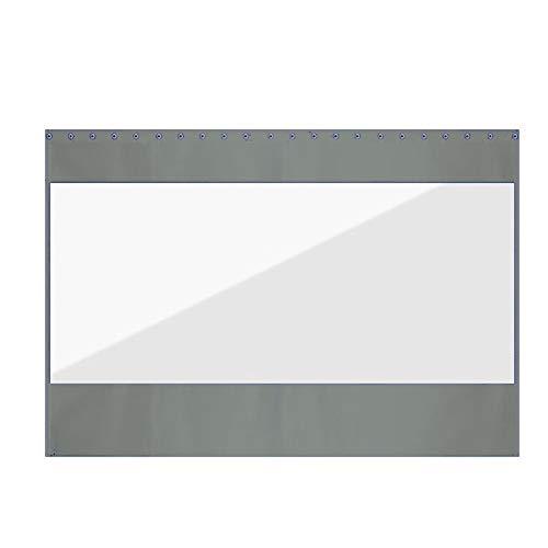 GFSD Lona Alquitranada Cortina Impermeable Periféricos de terraza PVC Transparente de 0,5 mm Lona Impermeable Toldo de balcón con Junta antioxidante, Sala de Lavado de Autos, Garaje