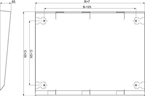 Schneider NSYSC830 luifel 800X300, Wit