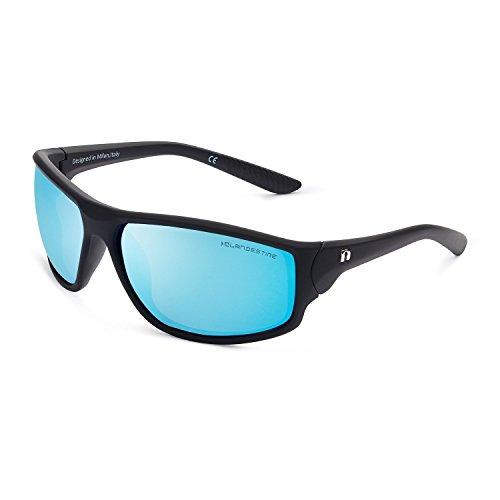 CLANDESTINE Curve Matte Black Blue N - Gafas de sol de Nylon HD para Hombre & Mujer