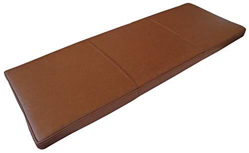 """Quattro Meble Matt Antic Braun Echtleder Bankauflage Sitzkissen Lederkissen Sitzpolster Bank Auflage doppelt genähtes Echt Leder Kissen Sitzauflage Leder Mondial Brown 8399"""" (40 x 120 cm)"""