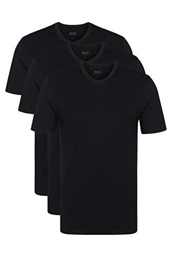 BOSS Herren T-Shirt VN 3P CO Dreier-Pack T-Shirts aus Baumwolle mit V-Ausschnitt