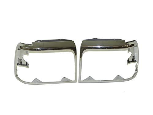 Bundle Fits 1992-1996 Ford F150 F250 F350 Headlight Door Bezel Chrome Set...