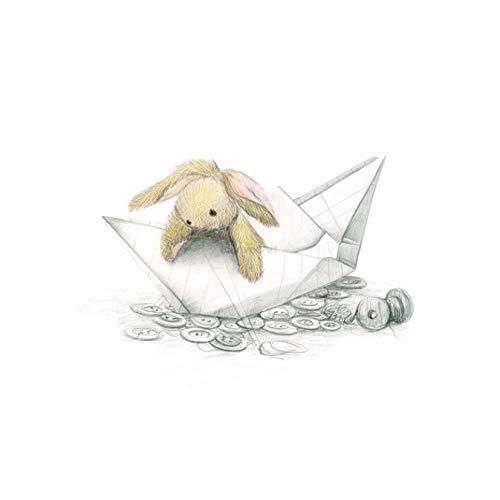 QIANLIYAN Kunstdrucke Poster Kinderzimmer Wandbild Pilz Schlitten Kaninchen Leinwand Leinwand Kinderzimmer Dekor Kein Rahmen 50X70Cm Ohne Rahmen