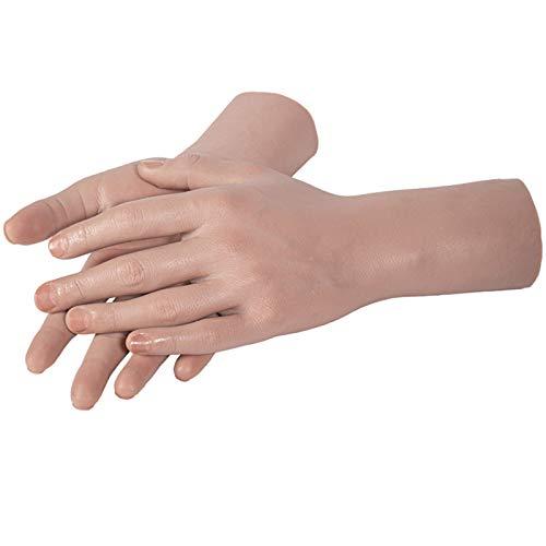 Modelo De Mano Masculina De Silicona, Práctica De Manicura Manos Dedos Arte De Uñas, Simulación De Silicona Modelo De Mano Accesorios Para Hombre Accesorios Modelo Manicura Niño Puntales Para