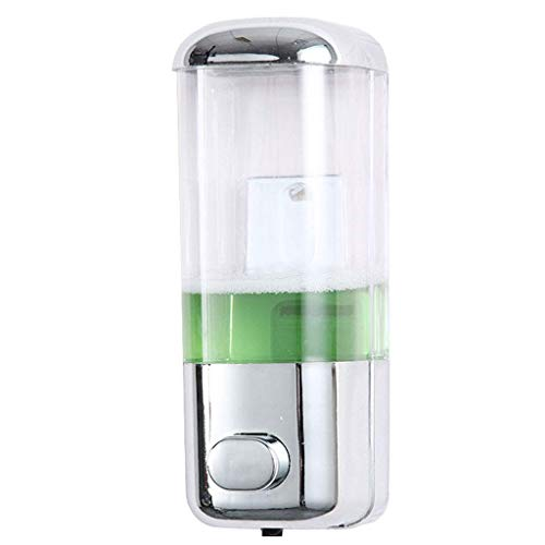 LHQ-HQ Dispensador de jabón, la Ducha del Cromo Acabado dispensador del Gel Manual de Cuidado del Cabello Champú Gel de Baño O Gel Limpiador de Manos Botella de 500 ml - Blanco dispensador de jabón