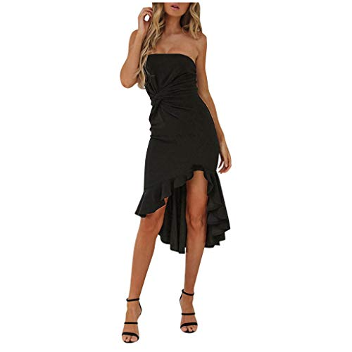 Kleid Damen Weiß Rot Elegante Vokuhila Festliches Vintage Abend Lang Festliche Sexy Enges Bodycon Party Petticoat Asymetrische Tunika Casual A Linien Kleider Partykleid