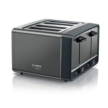 Bosch DESIGNLINE TAT5P445GB 4 SLICE TOASTER, ANTHRACITE
