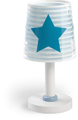 Dalber Light Feeling Lámpara Infantil Mesilla Estrellas, 40 W, Azul