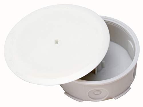 Kopp 359617005 Abzweigdose Unterputz-Feuchtraum, 6 Leitungseinführungen, IP 44 mit abschraubbarem Putzausgleichdeckel, ø 80 mm