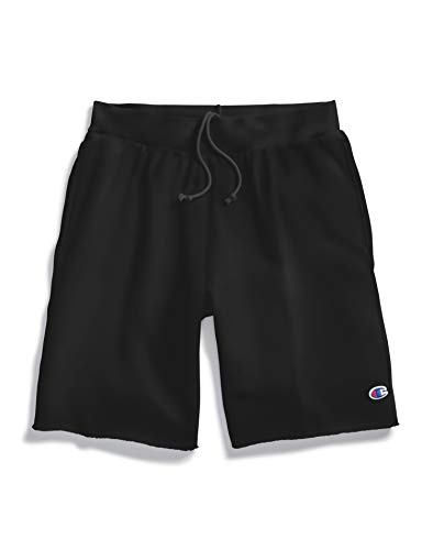 Champion LIFE Men's Reverse Weave Cut Off Short, Black, X Small