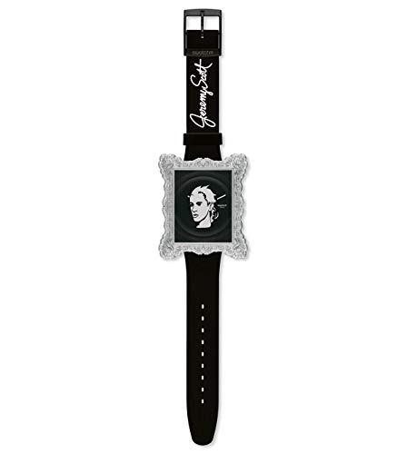 Swatch Damen-Armbanduhr Analog Leder SUOZ121