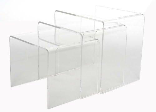 Best Baxton Studio Acrylic Nesting Tables, Clear