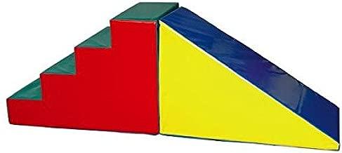ESCALERA ACOLCHADA PSICOMOTRICIDAD CON RAMPA 200 X 60 X 68 CM: Amazon.es: Oficina y papelería