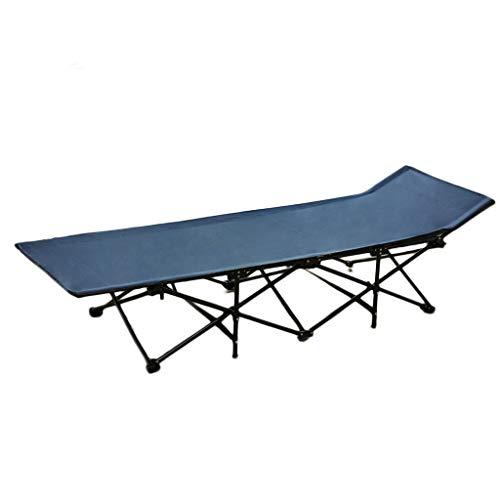 UCYG Bed logeerbed, inklapbaar beddengoed, slaapbank, sideboard, 1 persoon, metalen frame, voor camping, slaapkamer, 150 kg draagkracht, 190 x 68 x 36 cm