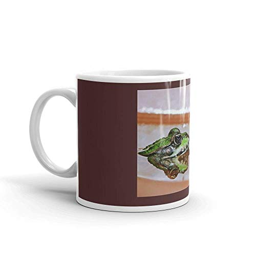 Lsjuee Chives The Star Frog Summer in All its Forms 12 (c(t) by Olao-Olavia/Okaio Crations fz 200 Mug 11 Oz White Ceramic