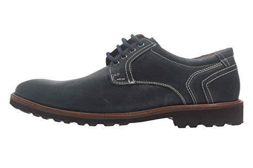 Manz Firenze AGO Puratex Business-Schuhe in Übergrößen Blau 146064-03-041 große Herrenschuhe, Größe:49.5