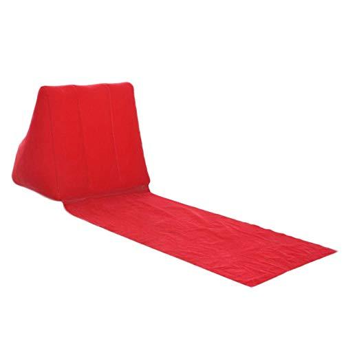 DADZSD Neu Aufblasbare Strandliege Matte Kissen PVC Weiche Freizeit Stuhl Sitz für Camping Outdoor 19ing-rot