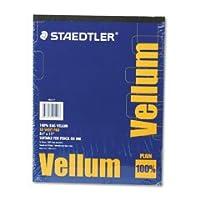 STAEDTLER マーズベラム紙 16ポンド ラグ レターサイズ 半透明 1パッドあたり50枚 (6ケース)