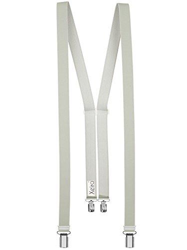 Xeira - Bretelles de haute qualité pour Femmes / Homme avec 4 fort clips dans 30 Couleurs - Fabriqué en Allemagne / Noir / Beige / Marron / Vert / Jau