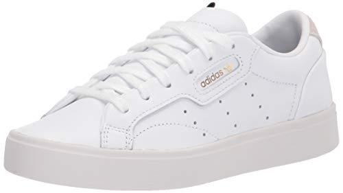 adidas Originals Women's Sleek Sneaker Crystal White, 8 M US